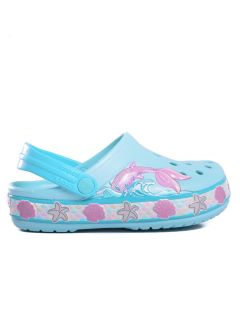 Zuecos Crocs Fun Lab Mermaid Band Clog Kids